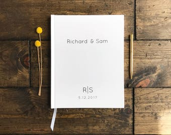 Modern Type Wedding Guestbook. Clean Simple Wedding Guestbook. Custom Wedding Book. Wedding Keepsake. Gift for wedding. Modern Wedding Book
