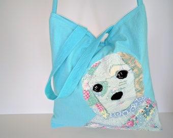 dog bag, puppy, dog tote, shoulder bag, Birthday gift, gift, puppy bag, dog lovers bag, dog lovers gift