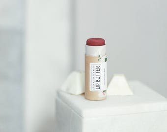 LIP BUTTER // Beet Tinted Lip Balm  - - - Vegan ∙ Organic ∙ 100% Natural