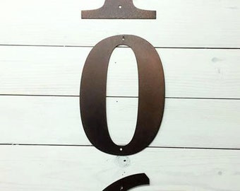 12 inch Metal Adress Numbers