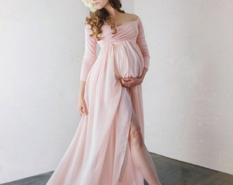 Long sleeve maternity dresses for pictures