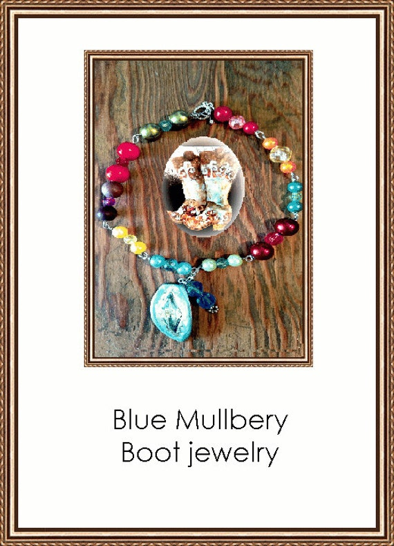 Blue Mulberry Boot Jewelry