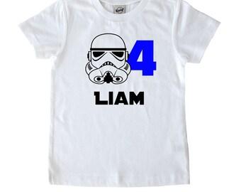 Stormtrooper Shirt - Star Wars Birthday - Kids Shirt - Darth Vader - Birthday Gift - Star Wars Gift - Star Wars Birthday Shirt