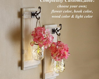 mason jar wall sconces wall decor lighted sconces wall hangings rustic decor