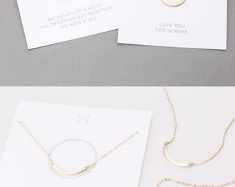 Jewelry Gifts to Share!  Gifts for Best Friends, Sisters, Mother-Daughter • Dainty Necklaces to Share • Best Friends Necklace • LN190