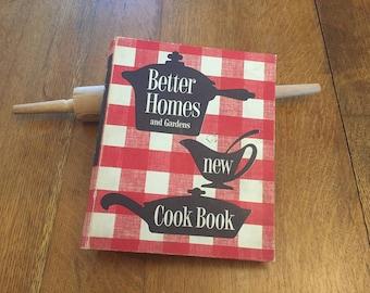 1953 Better Homes Gardens Cook Book, Vintage 1st Edition Cookbook, 5 ring binder hardcover
