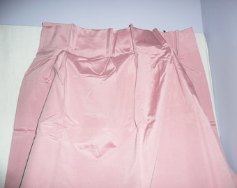 Vintage Cotton Candy Pink Foam Backed Draperies, pink curtains, pink drapes, pinch pleat, draw draperies