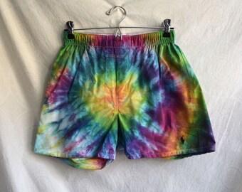 Tie Dye Polo Rainbow Boxers, Size Small