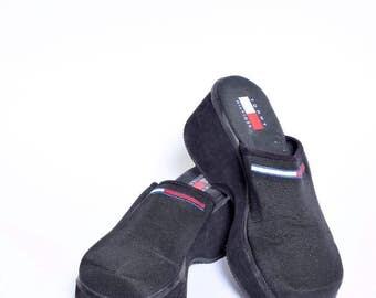 Vintage 90's Tommy Hilfiger Sandals Platform Clogs