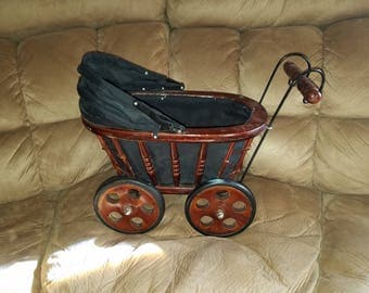 Wooden Baby Carriage/Buggy