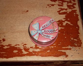 vintage heather rouge compact tin
