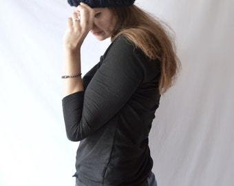 Ready To Ship Chunky Knit Wool Hat with Pom Pom, Crochet Beanie, Slouchy Beanie, Acrylic Blend Hat, Winter Hat, Fisherman Wool, Autumn Knitw