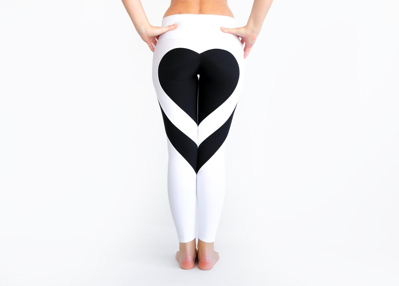 Heart Shape Pants White Leggings Heart Leggings Sexy-6810