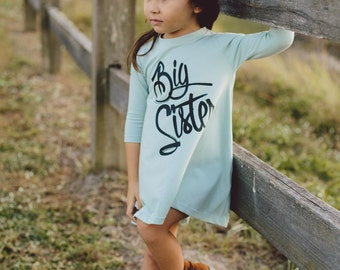 big sister dress, pregnancy announcement shirt, big sister shirt