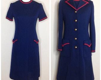 1960's Vintage Sheath Dress and Coat  - Matching Set