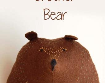 Brown bear plush, Big Brother Bear, stuffed toy, soft toy kids gift, Woodland Plush, stuffed animal, big stuffed bear, softie birthday gift