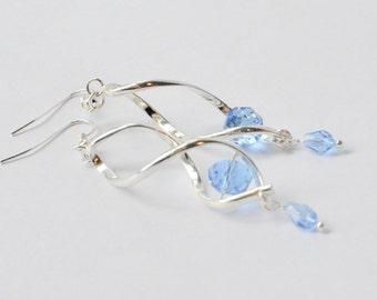 Spiral Earrings, Silver Drop Earrings, Gift for Mom, Wedding Earrings, Swirl Earrings, Unusual Earrings, Trendy Boho Statement Coil Earrings