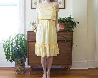 Vintage 70's Yellow Sun Dress