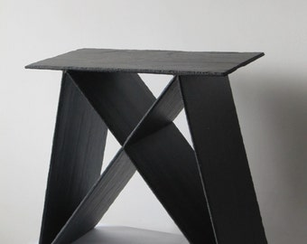 Stool in slate indoor/outdoor