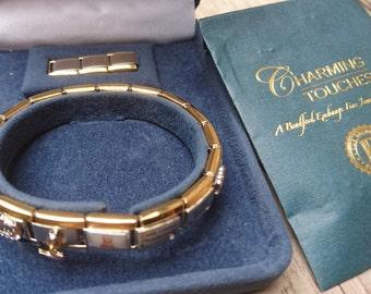 "Bradford Exchange ""the cats meow"" Italian charm bracelet"