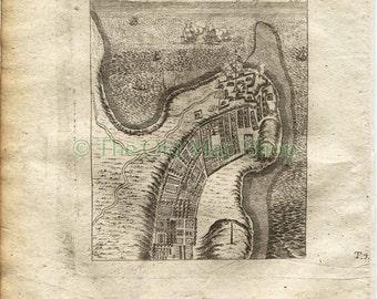 "1719 Manesson Mallet ""Fort Dauphin"" Tolanaro, Madagascar, Antique Map, Print"