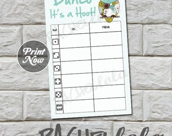 Owl Bunco us/them tally sheets, instant download, Buy 2 Get 1 FREE