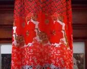 Vintage Sleeveless Red Fl...