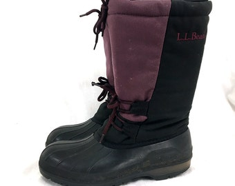 7 Men's / 9 Women's - Purple LL Bean Snow Boots