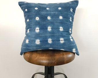 18 x 18 Vintage Indigo Pillow