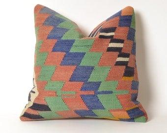 turkish kilim pillow, kilim pillow, turkish pillow, vintage pillow, decorative pillow, pillow, bohemian pillow, kilim, kilim cushion cover