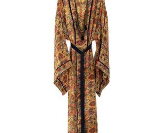 Silk kimono, kimono robe, silk robe, long silk kimono, silk kimono robe, silk kimonos, long silk robe, floral silk robe, gift for her