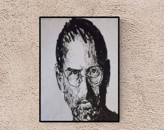 Illustration - Steve Jobs - christmas gift for tech freaks - boyfriend gift