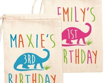 Dinosaur Party Favor Bags, Dinosaur Birthday Party Favors, Dinosaur Party Favor Bags