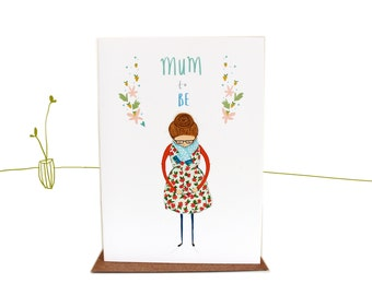 Mum to be Mother's Day illustrated greetings card