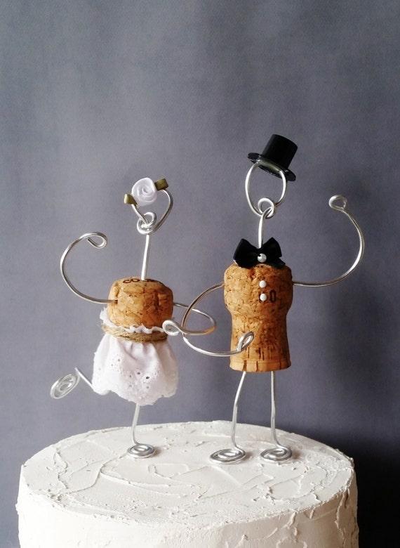 Christmas Ornament Wedding Cake Topper