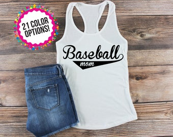 Baseball Mom Shirt/ Baseball Mom Tank Top/ Baseball Mom Muscle Tee/ Mom Life/ Hey Batter Batter/ Custom Baseball Shirt/ Sports Mom Shirt