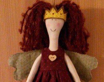 Hand-made doll Angel with Christmas accessories