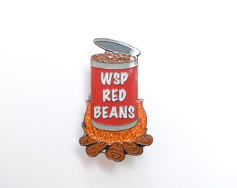 Red Beans Widespread Panic Hat Pin