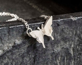 Butterfly Necklace-silver