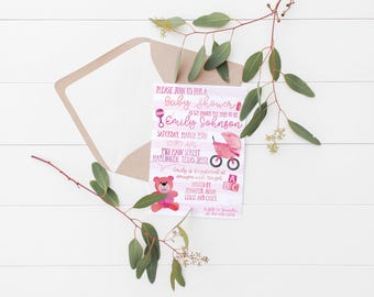 Printable Girl Baby Shower Invitation