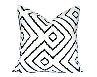 Optical Maze Black decorative pillow cover - Made to Order - Choose Your Size