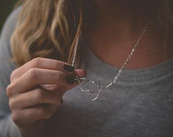 Antique Silver Branch Necklace