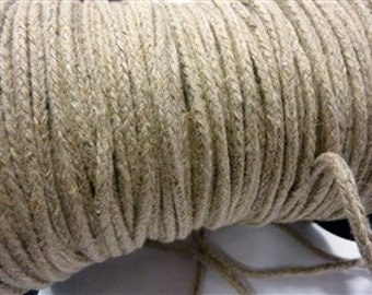 Braided linen cord.