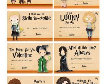 Harry Potter Valentines   Harry Potter Valentine Cards   Cute Harry Potter  Valentines   PERSONALIZED