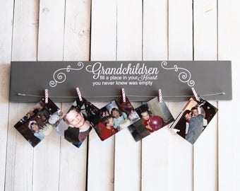 Grandchildren fill a place in your heart, Grandchildren photo display, picture frame, photo frame, family frame, wedding, family photo