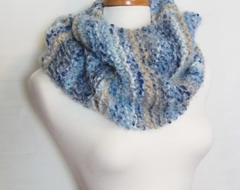 Super Soft Hand Knit Infinity Loop Scarf. Ships Free in USA
