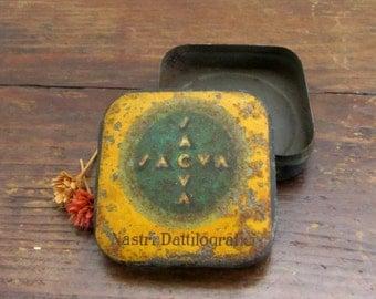 Old Italian tin box, 60s - typist tape box