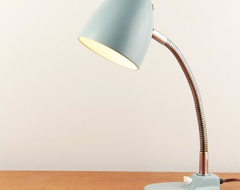 Industrial mid-century grey table lamp - Made in Germany - ca. 1950s