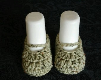 Crochet Baby Booties - Newborn to 3 months