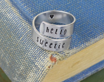 Hello Sweetie Wrap Ring - Dr Who